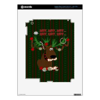 Doggie Reindeer Ruff Ruff iPad 3 Decal