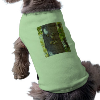 Doggie Ribbed Tank Top: Tree Face Photo Doggie T-shirt