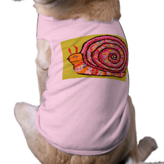 Doggie Ribbed Tank Top with Cute Snail Design
