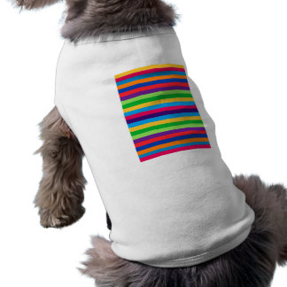 Doggie Ribbed Tank Top with Fun Stripes Pet Clothes