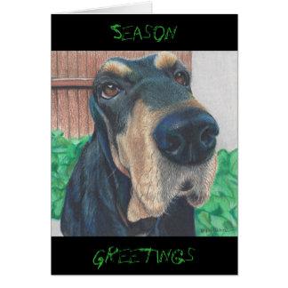 doggie Season Greeting card