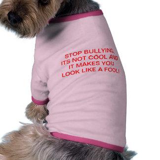 Doggie stop bullying campain tshirt doggie tee shirt