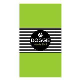 DOGGIE stripe stamp card