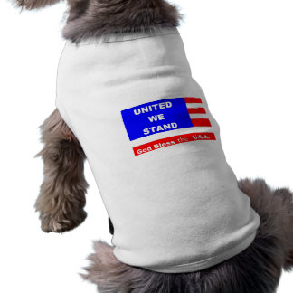 Doggie Sweater Jacket - God Bless the U.S.A. Dog T-shirt