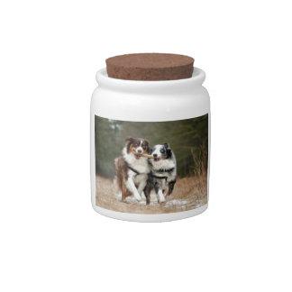 Doggie Teamwork Candy Jars