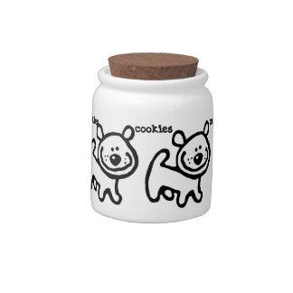 Doggie treat cookie jar candy dish