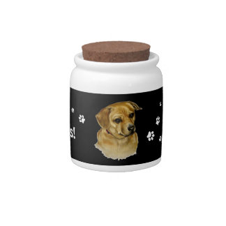 Doggie Treat Jar Candy Dishes