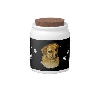 Doggie Treat Jar Candy Dish