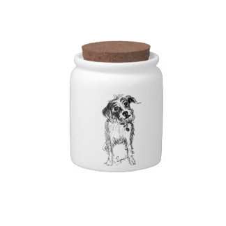 Doggie Treats Jar Candy Dish