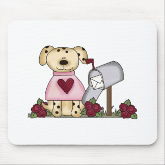 Doggie Valentine's Day Mouse Pad