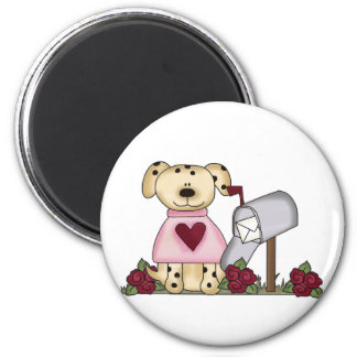Doggie Valentine's Day Tshirts and Gifts 2 Inch Round Magnet