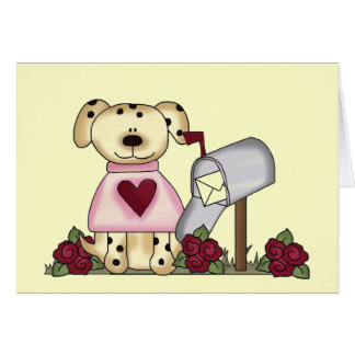 Doggie Valentine's Day Tshirts and Gifts Greeting Card