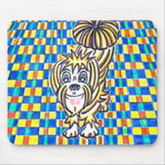 """Doggie wants din-din."" Mouse Pads"
