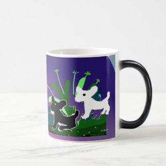 Doggies in Garden Magic Mug