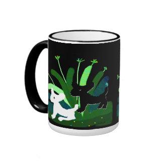 Doggies in Garden Ringer Mug