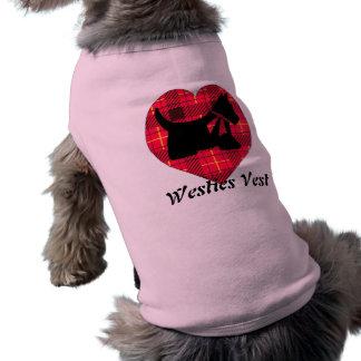 Doggies Tartan Heart Tank Top