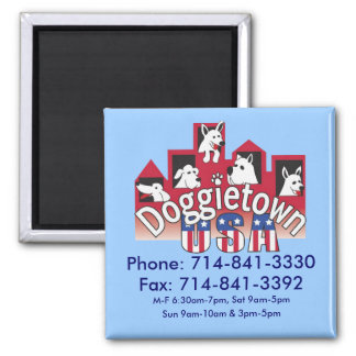 Doggietown Phone Mangnet (Blue) 2 Inch Square Magnet
