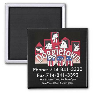 Doggietown Phone number Magnet (Black)