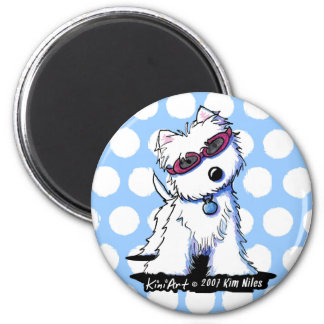 Doggles Westie Magnet 2 Inch Round Magnet