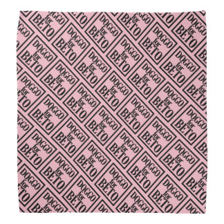 Doggo for Beto bandanna (pink)