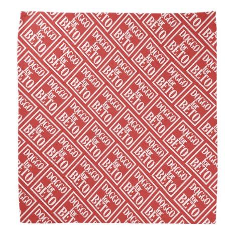 Doggo for Beto bandanna (red)