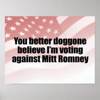 DOGGONE AGAINST MITT ROMNEY.png Poster