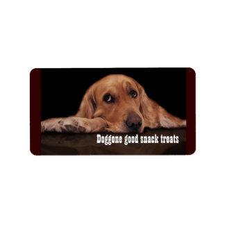 Doggone buena etiqueta de la invitación del bocado etiquetas de dirección