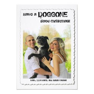 Doggone Good Christmas Dog Lovers Photo Holiday Card