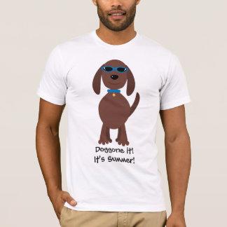 Doggone it! It's Summer! Dog Wearing Sunglasses T-Shirt