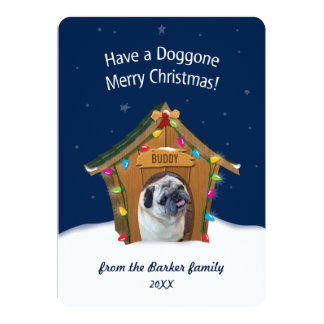 Doggone Merry Christmas Card