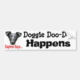 Doggte Doo-Doo Etiqueta De Parachoque