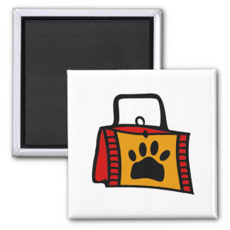 Doggy Bag With Funky Purse 2 Inch Square Magnet