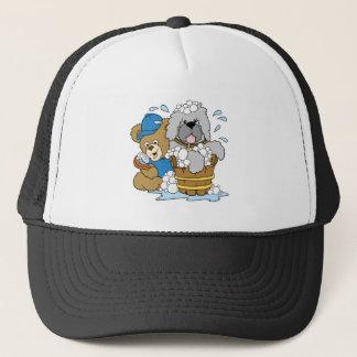 Doggy Bath Time Bear Trucker Hat