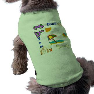 Doggy beach bum shirt. tee