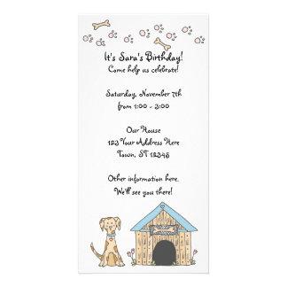 Doggy Birthday Invitation Photo Card Template