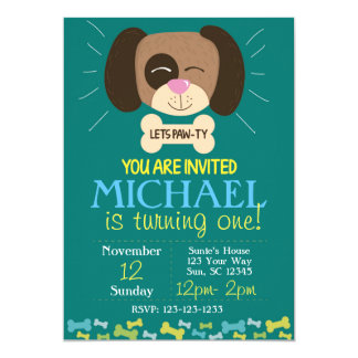 Doggy Birthday Invite (boys)