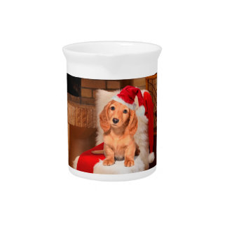 Doggy Christmas Drink Pitcher