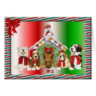Doggy Christmas Greeting Card