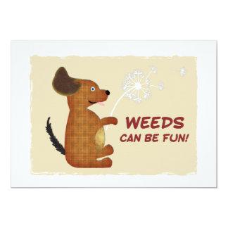 Doggy Dandelion Weeds Fun Card