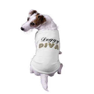 doggy diva bling look pet tshirt