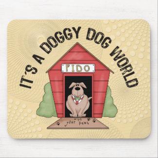 Doggy Dog World Mouse Pad