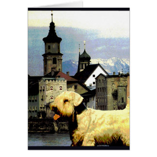 """Doggy Goes to Austria"" Card"