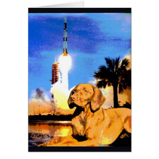 """Doggy Goes to Cape Canaveral"" Card"