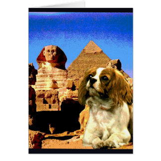 """Doggy Goes to Egypt"" Card"