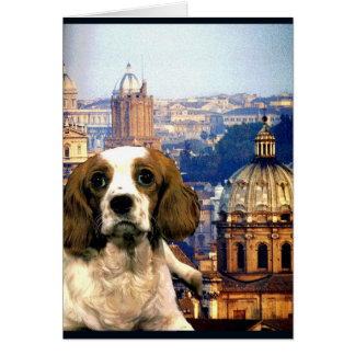 """Doggy Goes to Rome"" Card"