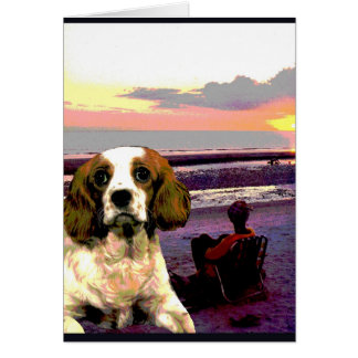 """Doggy Goes to the Beach"" Card"