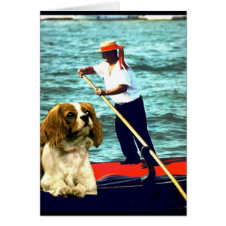 """Doggy Goes to Venice"" Card"
