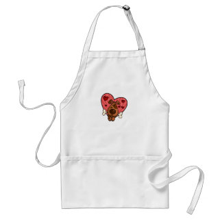 doggy heart adult apron
