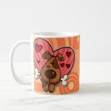 Doggy Heart Mug - I love my doggy and my doggy loves me!