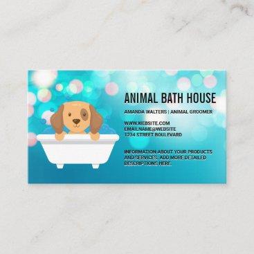 Doggy in Bathtub  Business Card